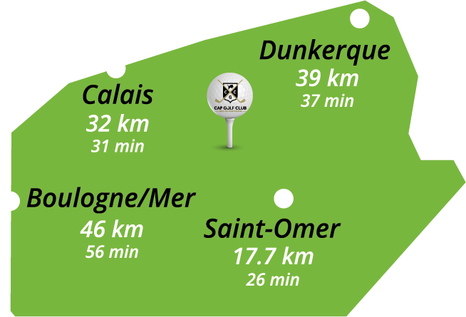 Cap Golf Club Ruminghem - Plan de situation