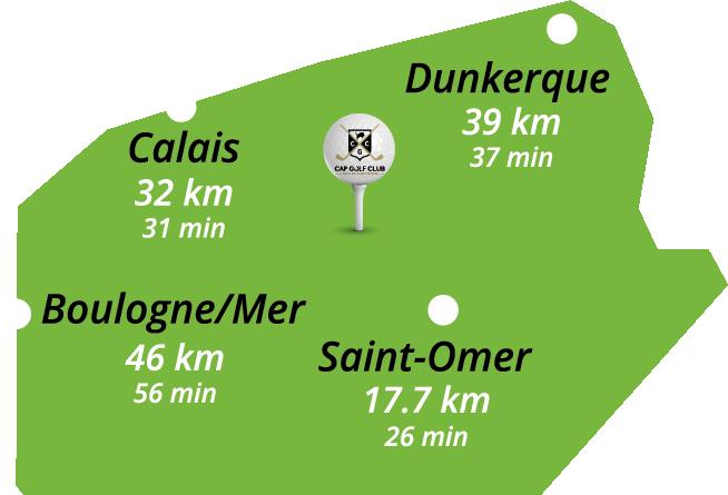 Cap Golf Club Ruminghem - Plan de situation